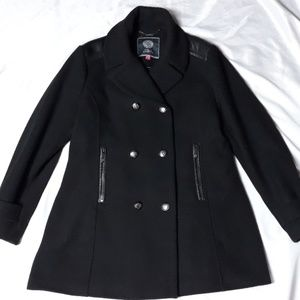 Vince Camuto Wool Blend Military Peacoat